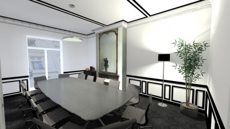 Offices :  Accueil &Meeting-room