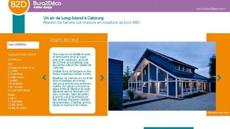 @Cabourg, aux bords de la Dives, souffle l' esprit de Long Island,  sur une nouvelle maison de famille BBC