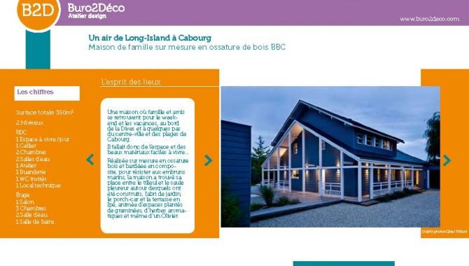 Esprit long island cabourg une nouvelle maison de famille for Buro espagnol