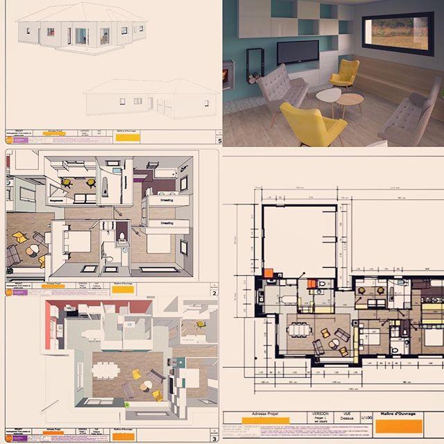 Aujourd'hui direction #bozouls pour  la 1ère visite de chantier d'un projet de #maisonsurmesure, en cours de construction bientôt un nouvel #happyspace  #desplansàlaréalité