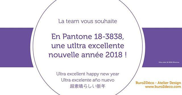 18.01.2018, 18h38, en Pantone 18-3838, moment parfait (que nous attendions avec tous ces 8;) pour vous souhaiter à toutes et tous une ultra excellente année 2018! #voeux2018 #couleur #pantone2018 #ultraviolet #ultrabonneannée