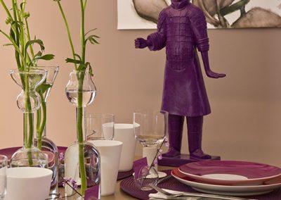 Un appartement vieillot devient une location meublée à Issy-Les Moulineaux - Buro2déco Aménagement et décoration-Espace dinatoire -détail- 005