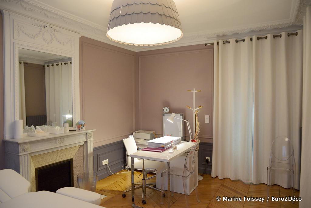 Cabinet Ostéopathie 2 Restructuration aménagement et décoration d'un appartement mixte à Paris 14ème -Buro2Déco