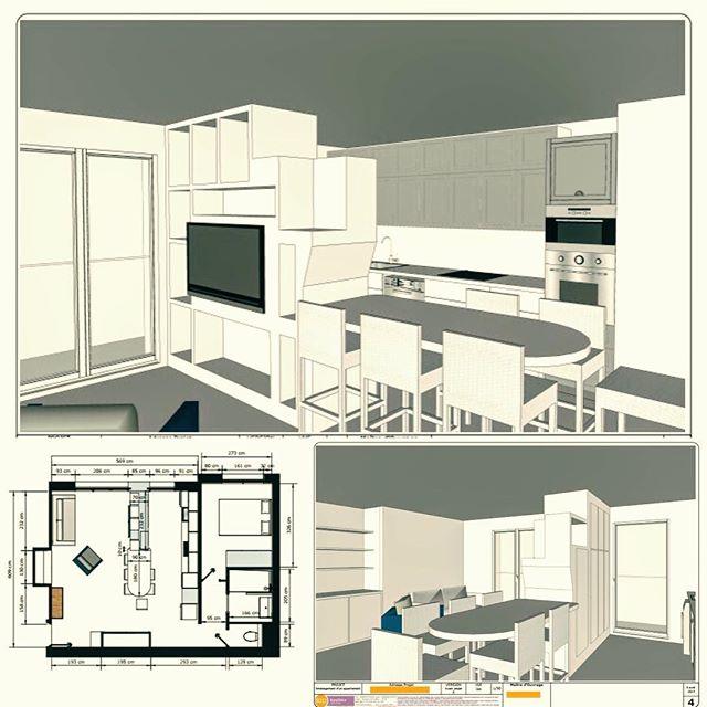 #projetencours #happyspace #undeplus #plans2d3d #appartement #pumpupthevolume #restructuration #workinprogress #version1.1 Quand les details des rangements de l'espace à vivre se précisent...