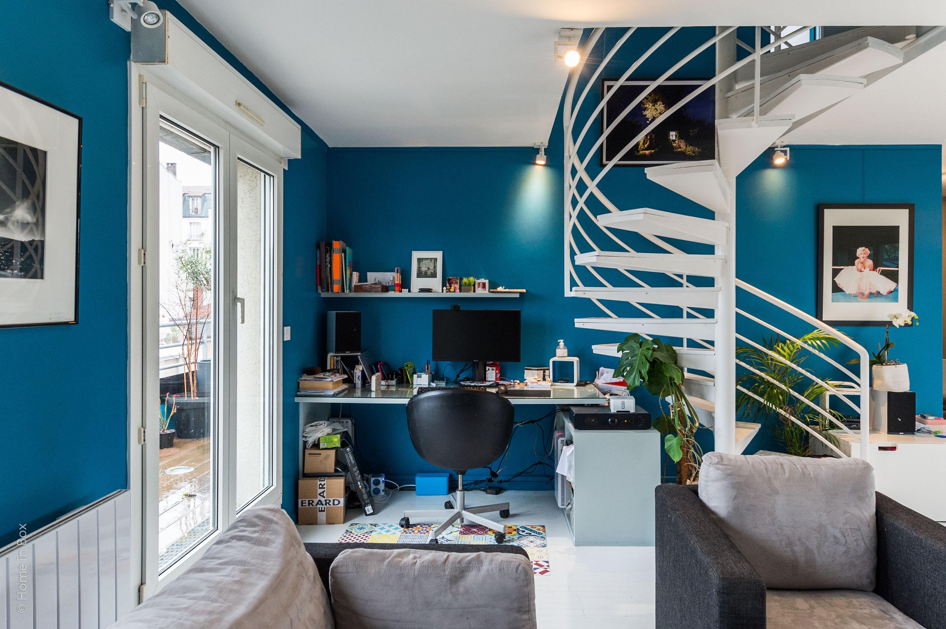 Aménagement d'un appartement en duplex aux couleurs Comics, Après l'espace bureau à Asnieres-sur-Seine- Buro2Déco-Crédits Photos HomeInBox18.jpg