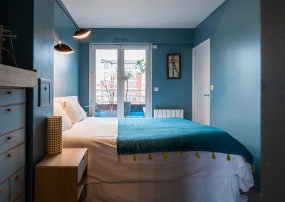 Un appartement familial en duplex aux couleurs Comics Arty : Aménagement et déco de la chambre parentale à  Asnieres -sur-Seine/Buro2Deco HomeInbox 25