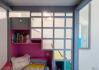Un appartement familial en duplex aux couleurs Comics Arty, une mezzanine évolutive structure et optimise une chambre d'enfant  à Asnieres -sur-Seine / Buro2Deco  HomeInBox 62