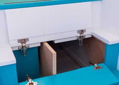 Un appartement familial en duplex aux couleurs Comics Arty,une mezzanine évolutive structure et optimise une chambre d'enfant  à Asnieres -sur-Seine / Buro2Deco  HomeInBox 67