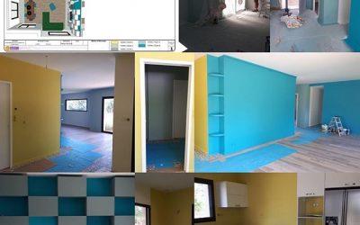 À Bozouls, les peintures sont prêtes 🤩dernière phase de mise en œuvre :